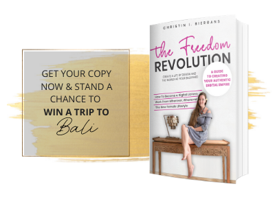 Stand a chance to win a trip to Bali to celebrate the launch of my new book The Freedom Revolution.